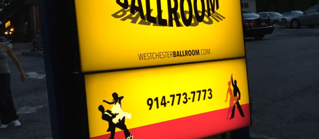 Signage of the new Westchester Ballroom