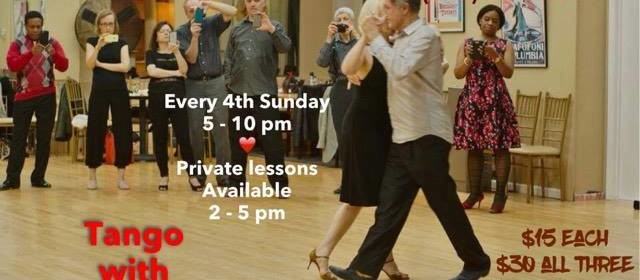 This Weekend – 4th Sunday Tango!